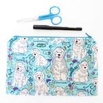 Labradoodle pencil case, dog pouch