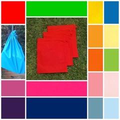3 medium cotton drawstring bags,  16 colours + b & w, school, early childhood