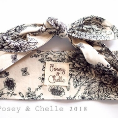 Women's Knot Up Headband - Vintage Floral Style