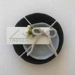 RATTAN Trinket Dish Set - Noir (Set of two) *INTRO PRICE*