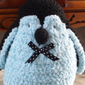 Paddles the hand crocheted penguin by CuddleCorner:christmas, OOAK, christmas