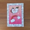 Unicorn birthday card, handmade birthday card, novelty card,