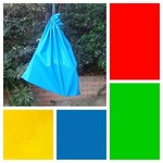 Medium cotton drawstring bag, choice of bright colour for storage, toys, library