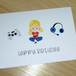 Happy Birthday card - gamer boy or girl