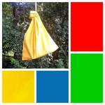 Small cotton drawstring bag, primary colours for gifts, games, toys, trinkets