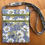Cross Body Bag - Pale Blue Floral