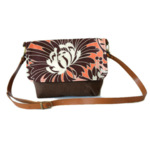 Messenger Bag - 'Brown Flower'
