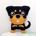 Rottweiler Plush / Rottweile Softie / Dog Softie / Dog Toy / 100% Wool Felt Toy