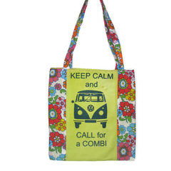 Keep Calm & Call for a Combi Tote (Lemon yellow)