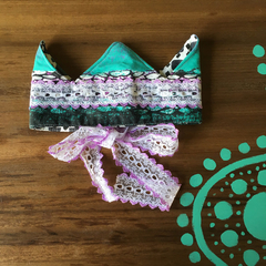 Fancy Dress Reversible Fabric Crown one size fits most