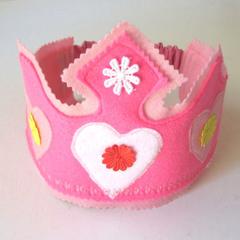 Felt Hat Flower Crown, Felt Headband, Dress Up Clothes, Flower hat