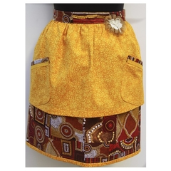 """Shades of the Dreamtime"" ladies half apron"