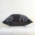 Hand screen printed 'fagus' cushion with duck feather insert