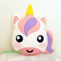 Unicorn Pillow Plush Softie Soft Toy 100% Wool Felt Nursery Home Decor Gift