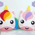 Unicorn Pillow Plush Softie Soft Toy 100% Wool Felt Nursery Home Decor Gift