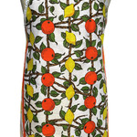 Metro Retro Vintage Tea Towel ORANGES & LEMONS Kitchen Apron