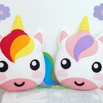 Unicorn Plush / Unicorn Softie / Unicorn Toy / 100% Wool Felt Toy