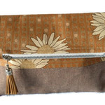 Fold Over Clutch - 'Daisies'