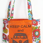 Keep Calm & Call for a VW Combi Tote (Orange)