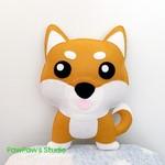 Shiba Inu Plush / Shiba Inu Softie / Dog Softie / Dog Toy / 100% Wool Felt Toy