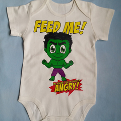 Baby Bodysuit, Infant Romper, Hulk Fan Art, Super Hero Baby, Hungry Baby, Funny