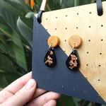 Everyday earrings, black earrings, statement earrings, gift for her, dangles