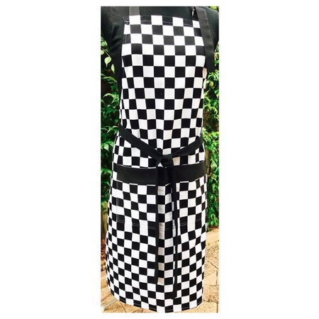 Style Chef Mens black and white Apron