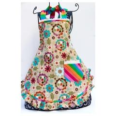 Carnival Capers multi colour girls apron
