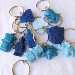 BLUE - necklace or bag tag - you choose the design