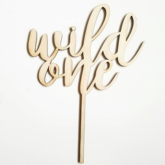 Wild One Cake Topper. Laser cut MDF wooden or Bamboo Veneer cake topper perfect