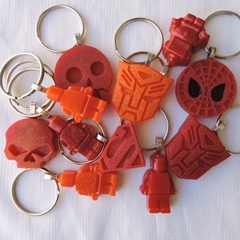 RED OR ORANGE - necklace or bag tag - you choose the design