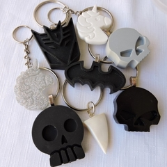 BLACK, GREY or WHITE - necklace or bag tag - you choose the design