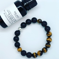 Aroma Diffuser Bracelet - Tiger's Eye. Sml, Med, Lge, XL.