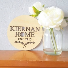 The CUSTOM Home Plaque. Personalised Timber Wooden Wall Hanging / Sign