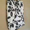 Black and White Reusable Shopping Tote - Free postage