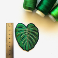 Monstera Tropical Leaf Embroidered and Iron on Patch