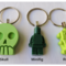 GREEN - necklace or bag tag - you choose the design