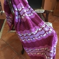 HANDMADE CROCHET BLANKET SHADES OF PURPLE