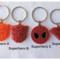 RED OR ORANGE - necklace or bag tag - you choose the design