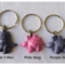 PINK OR PURPLE - necklace or bag tag - you choose the design