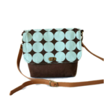 Messenger Bag - 'Light Blue Dots'