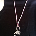 Lanyard / ID Holder Necklace - SAKURA / Kimono cord / Keyring / FREE SHIPPING