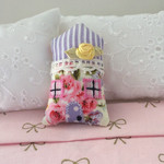 Miniature decorater house shaped pillow, sweet  miniature dollhouse cushion.