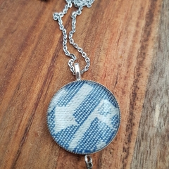 Blue / white deco pendant - Ankalia Gatsby Cobalt wrap scrap