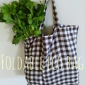 Foldable eco bag -TYPE A / REDish ORANGE - WAVE / reusable tote / eco friendly