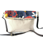 Fold Over Clutch - 'Flower Garden'