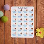 Bath Time Planner Stickers - Bathtub, Beauty Day Sticker fits Erin Condren plann