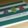 Fathers Day card - neck ties