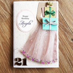 Customisable birthday card