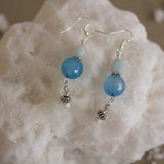 Aquamarine Nugget Earrings